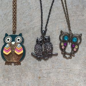 Lot of Owl Necklaces 🦉